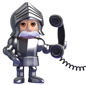 knight on phone Istock